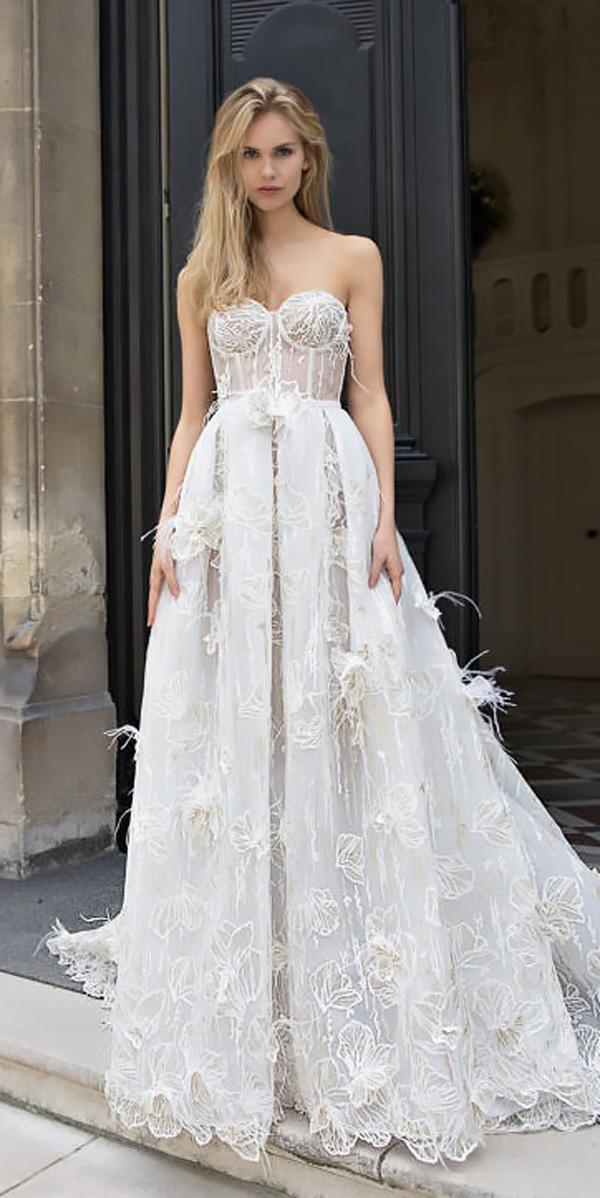 beach wedding dresses lace a line strapless sweetheart idan cohen