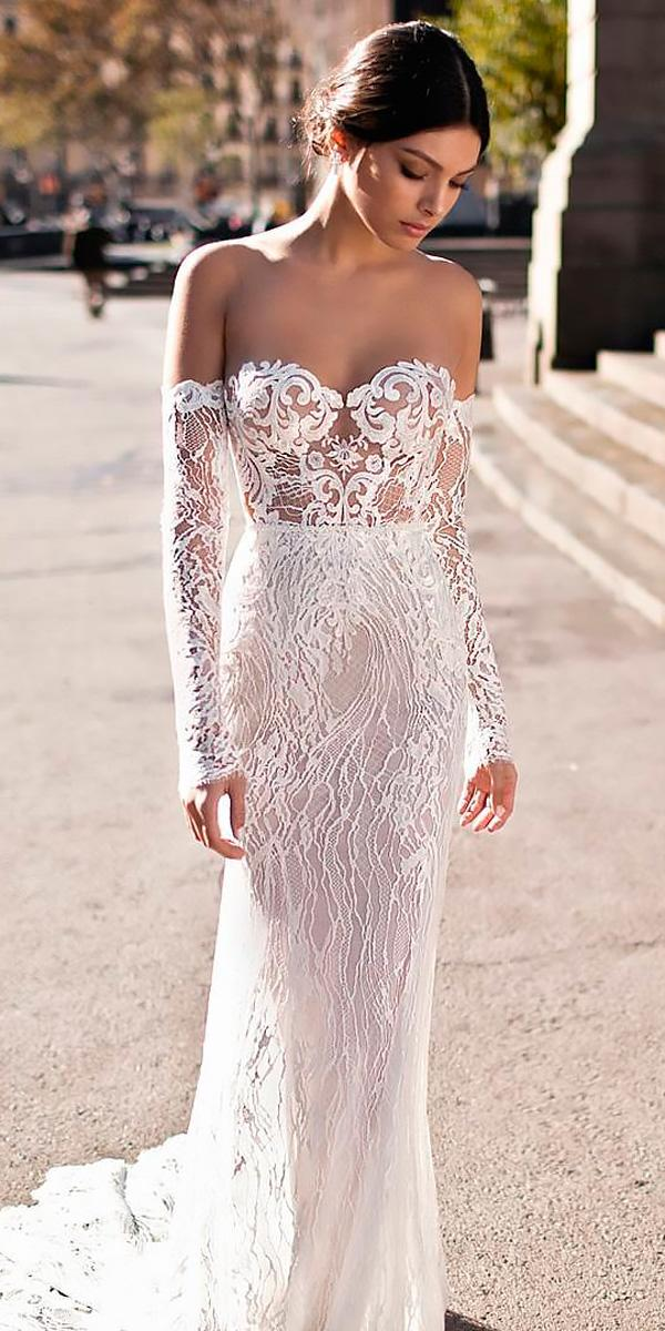 Beach wedding dresses sheath lace strapless sweetheart off for Off the shoulder beach wedding dresses