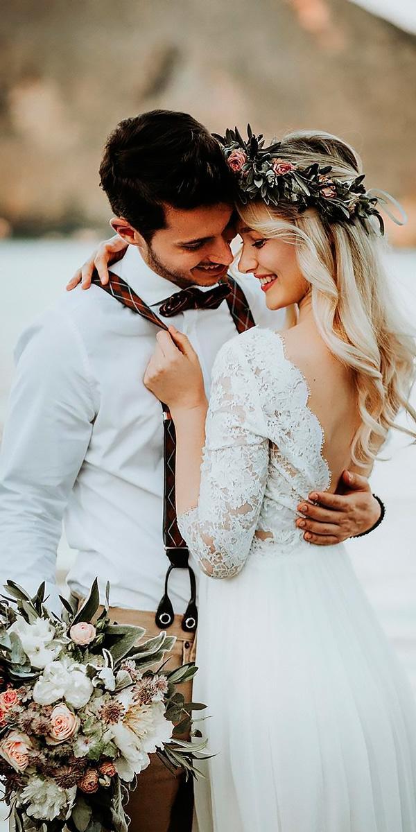 beach wedding dresses sheath open back lace with sleeves daniela marquardt