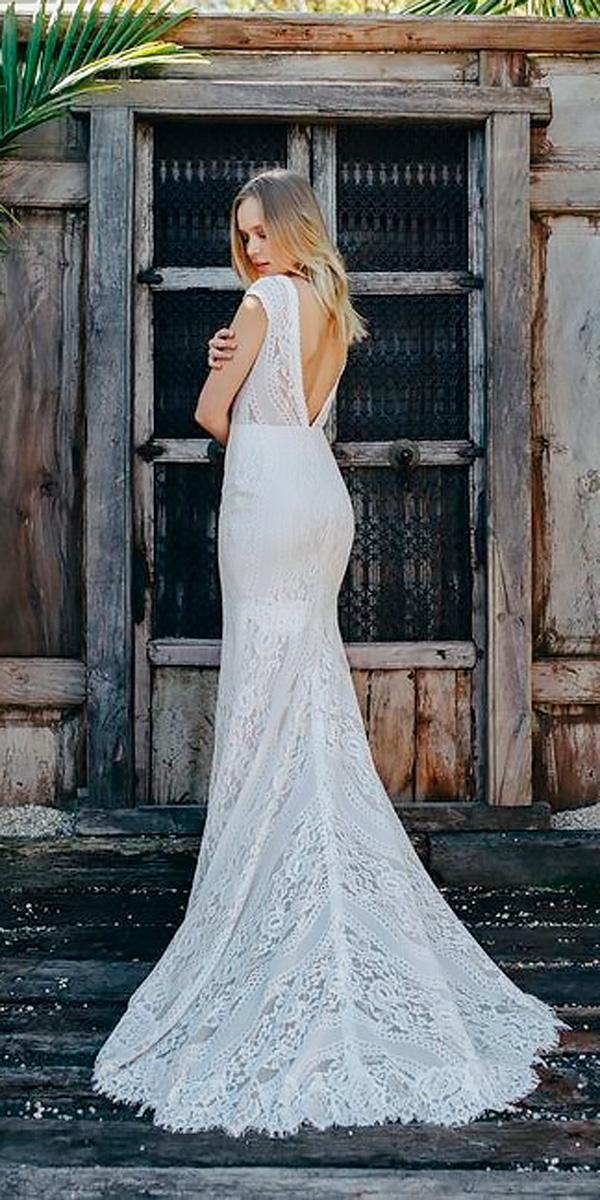 beach wedding dresses straight open back lace with short sleeves emmy mae bridal