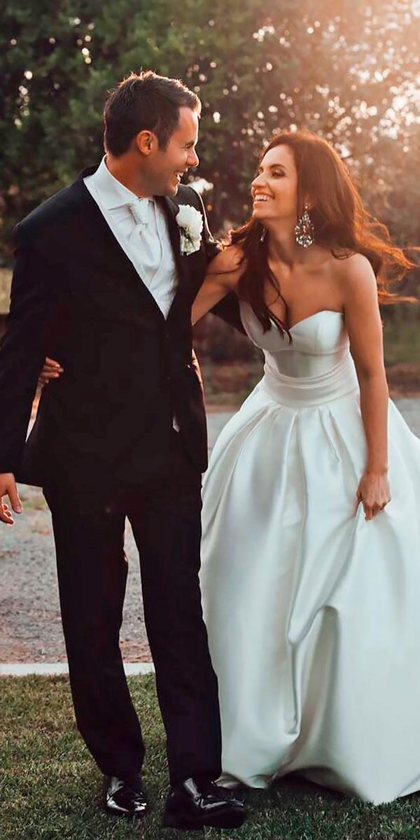 beach wedding dresses strapless sweetheart ball gown casual tali