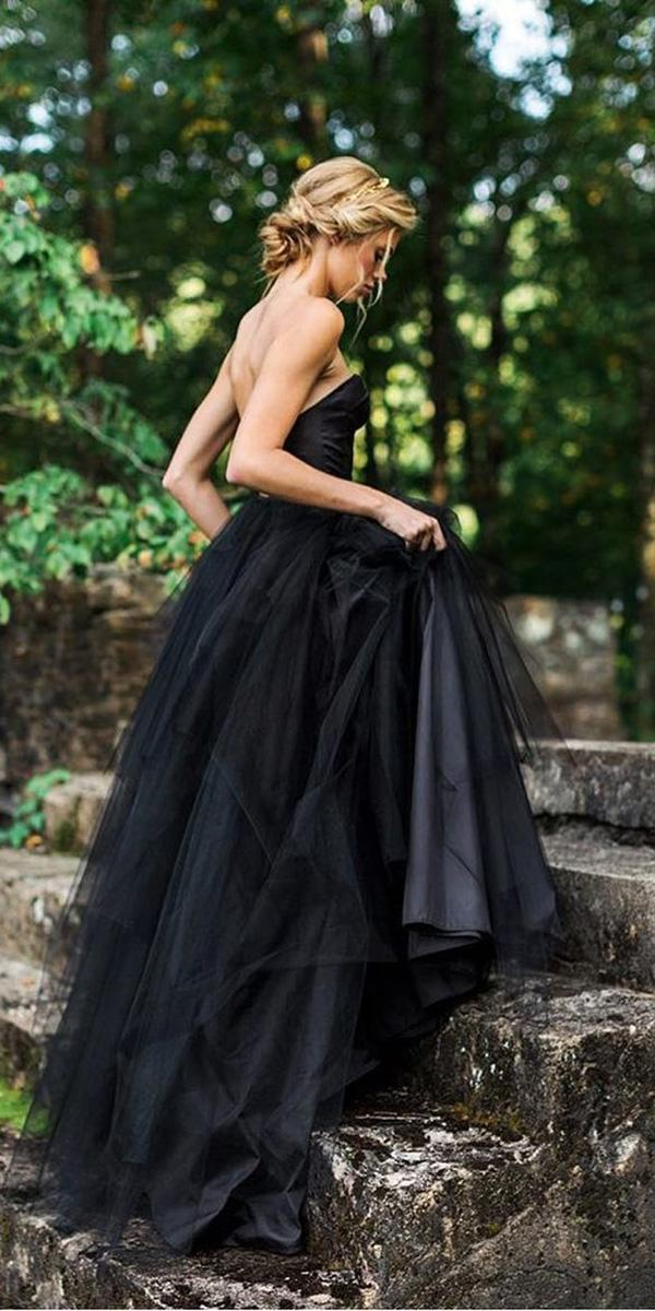 black wedding dresses a line sweetheart elizabeth dye
