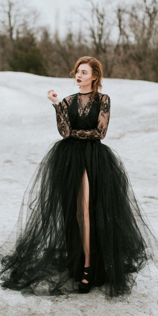 30 Beautiful Black Wedding Dresses That Will Strike Your Fancy ...