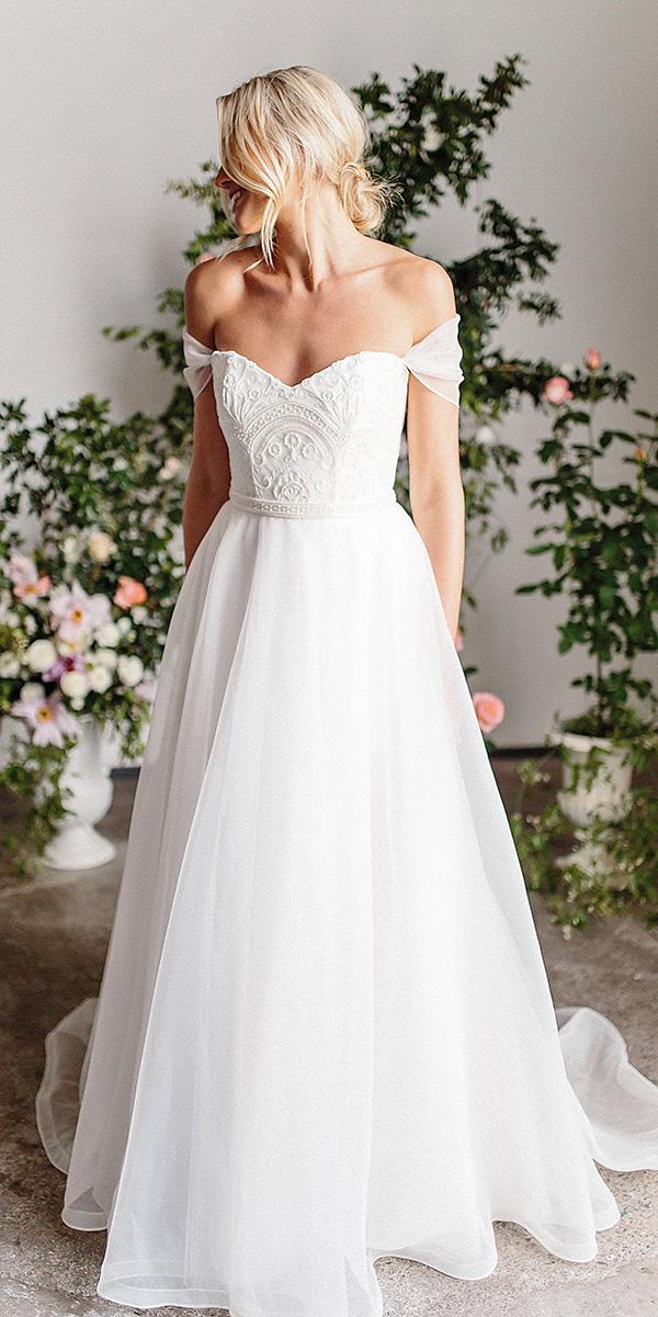 karen willis holmes wedding dresses a line sweetheart off the shoulder sleeves embroidered