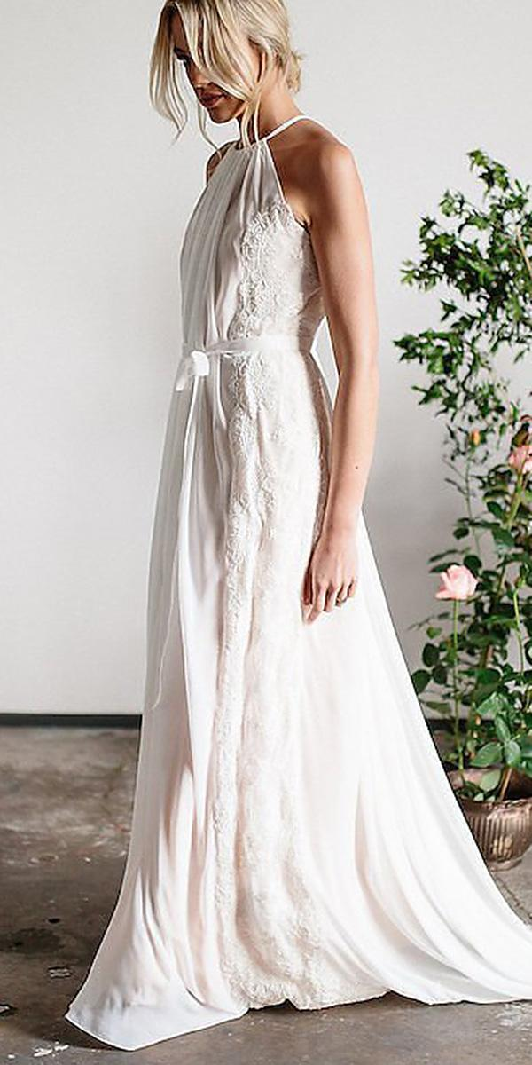 karen willis holmes wedding dresses straight sleeveless with train