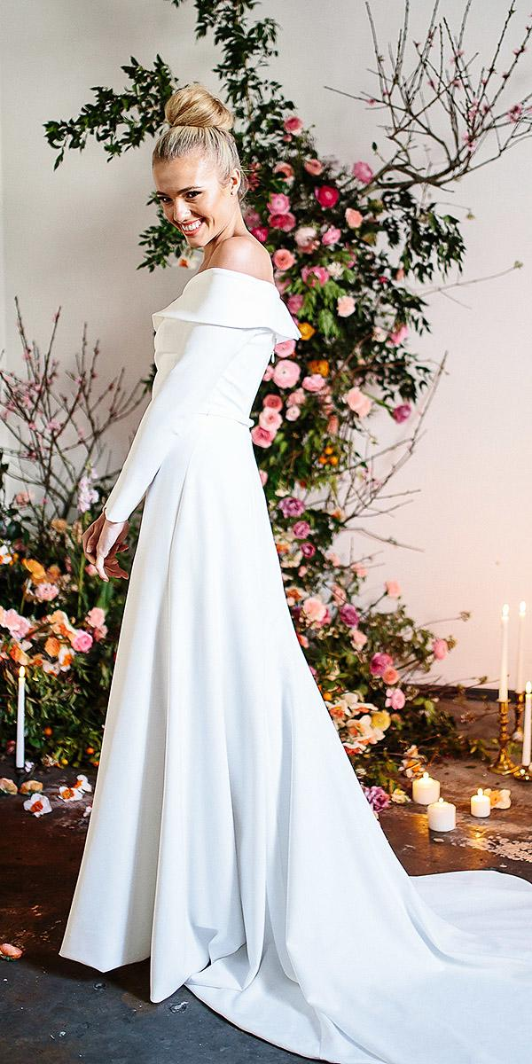karen willis holmes wedding dresses with long sleeves simple with train
