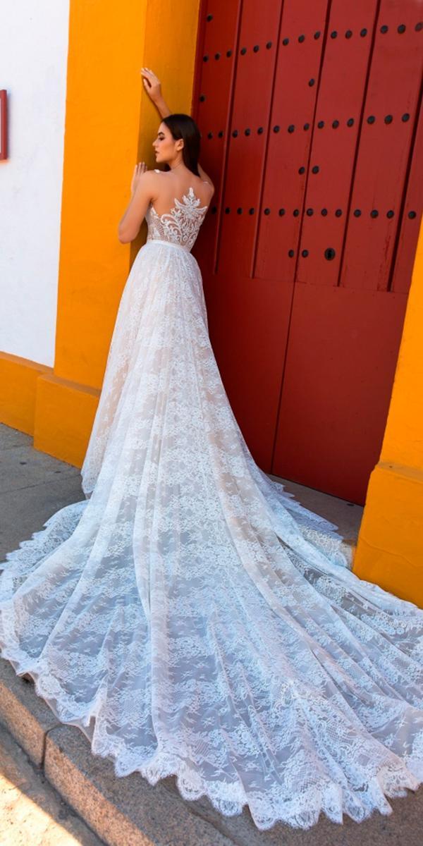 30 brilliant crystal design wedding dresses wedding for Tattoo lace back wedding dress