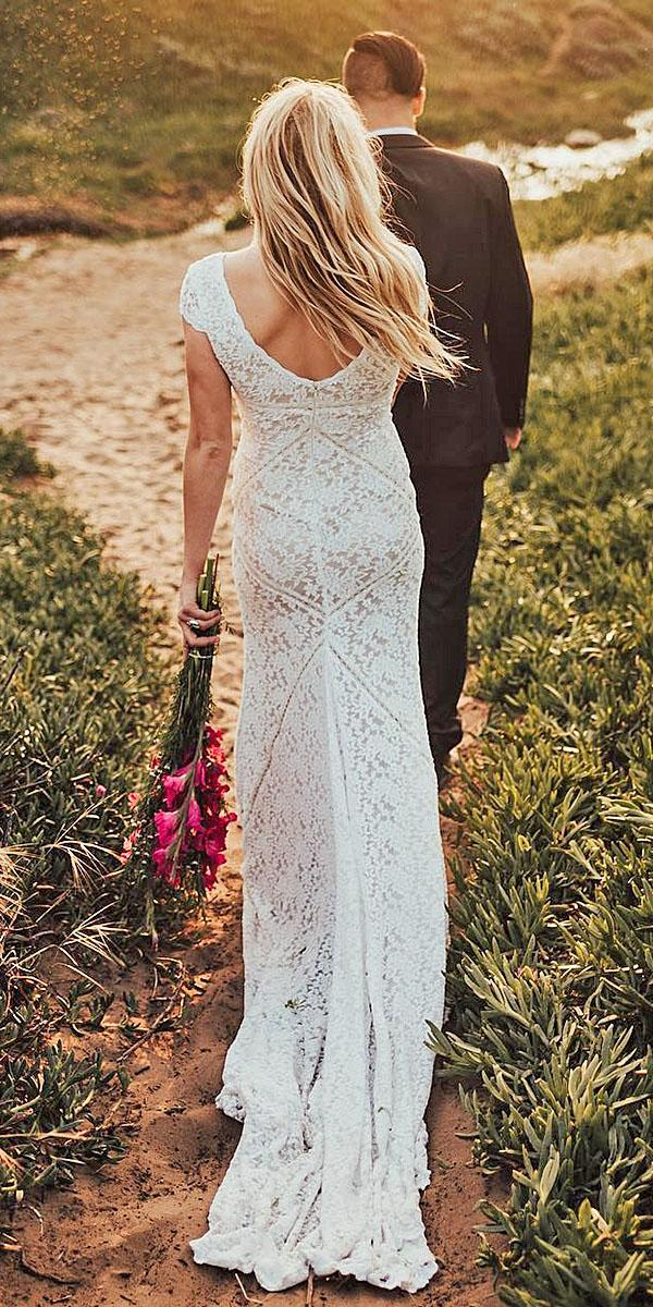 lace wedding dresses with long sleeves bohemian white grace loves lace