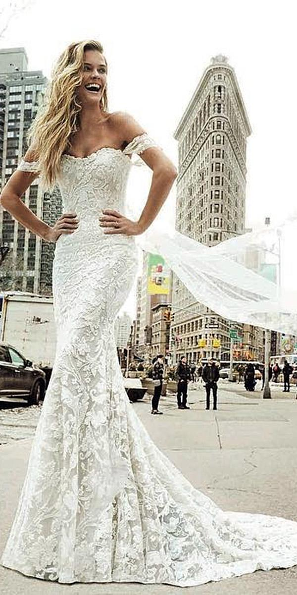 lace wedding dresses cap sleeves a line gown tatto berta