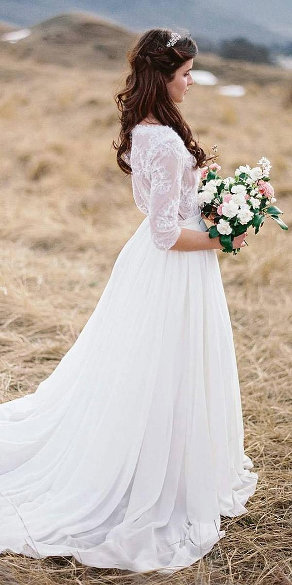 lace wedding dresses with long sleeves embellishment floral classic cathytelle photography