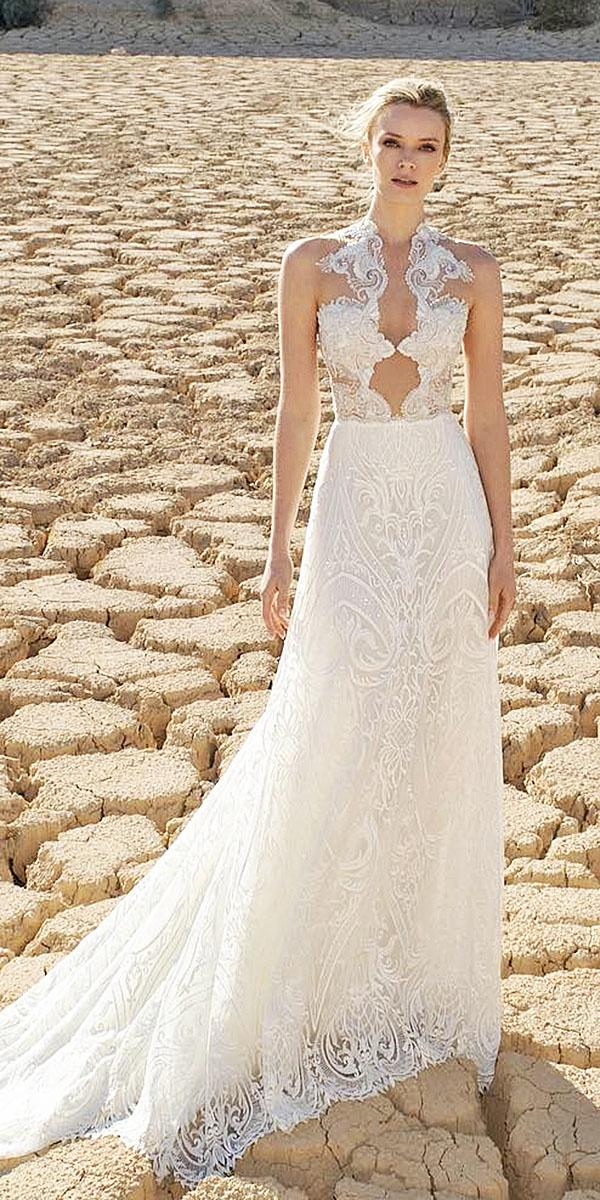 lian rokman wedding dresses a line lace tatto top embellishment