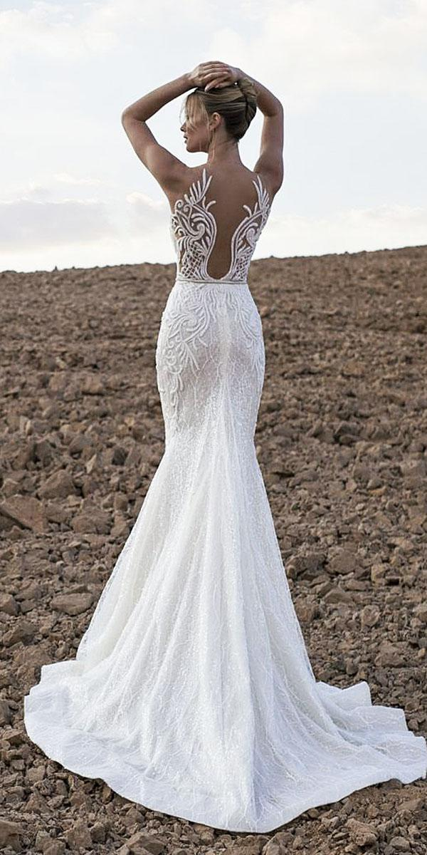 lian rokman wedding dresses mermaid sleveeless lace back full embellishment sexy