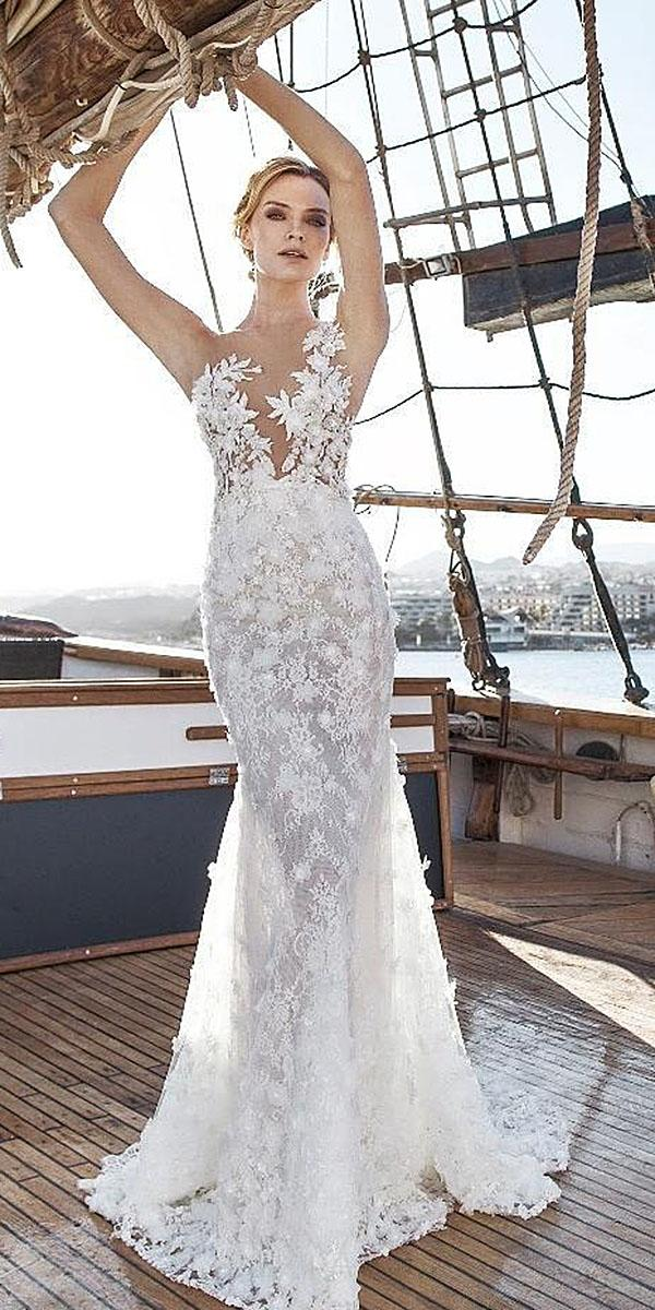 lian rokman wedding dresses trumpet sleeveless strapless floral appliques