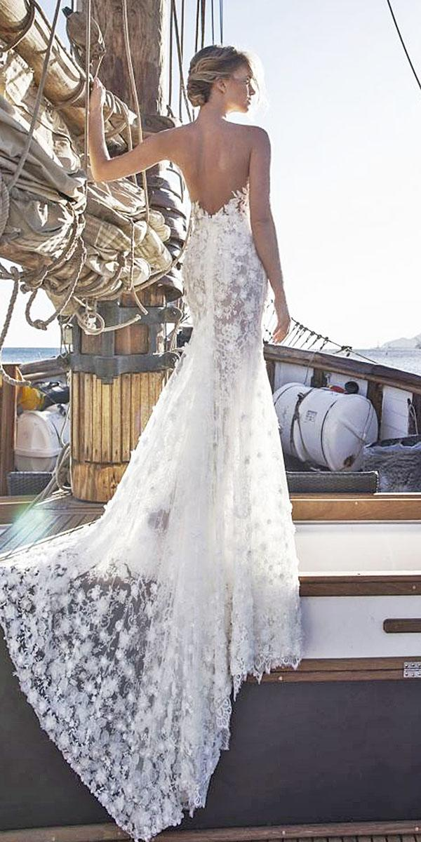 lian rokman wedding dresses v back floral embellishment with train