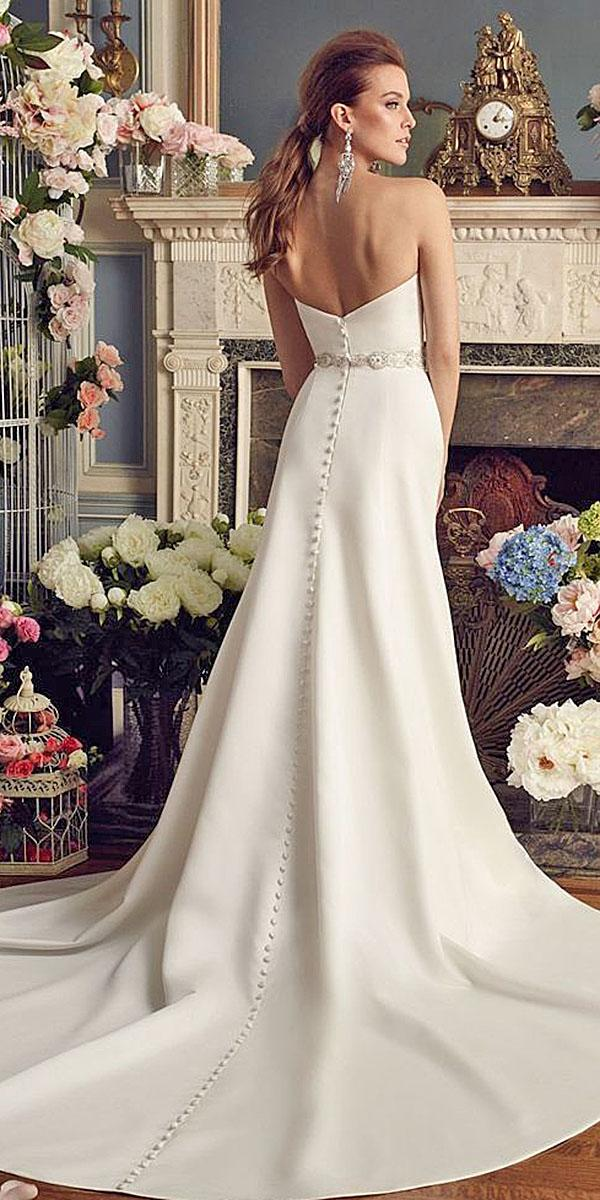 mikaella wedding dresses a line v back satin skirt with train