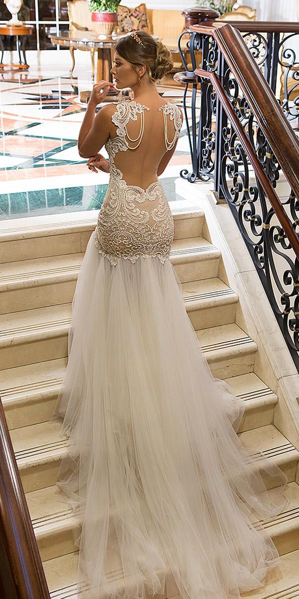 naama and anat wedding dresses lace blush tatto back