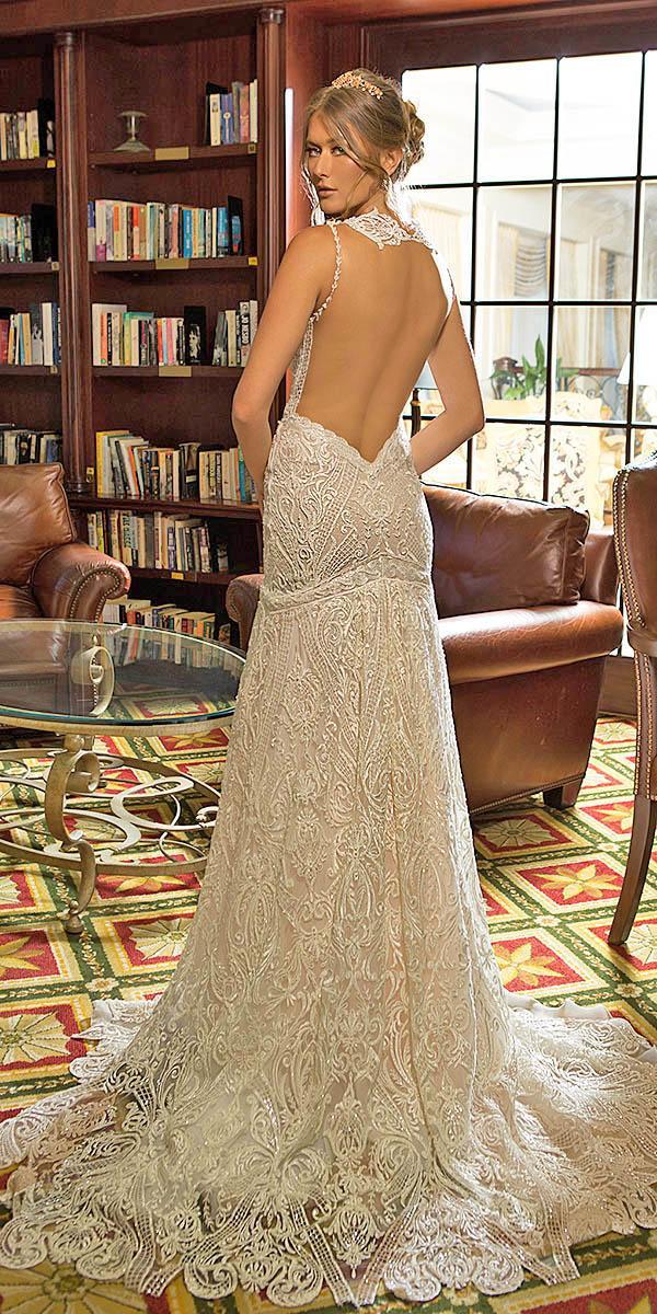 naama anat wedding dresses low back floral embellishment