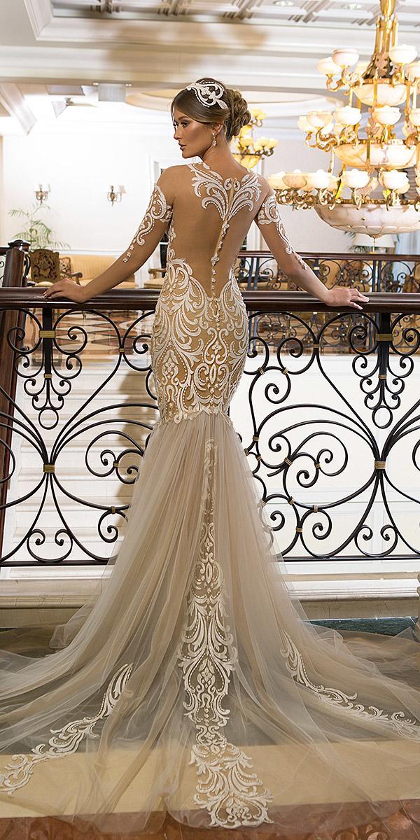 naama and anat wedding dresses mermaid lace illusion tatto back with train