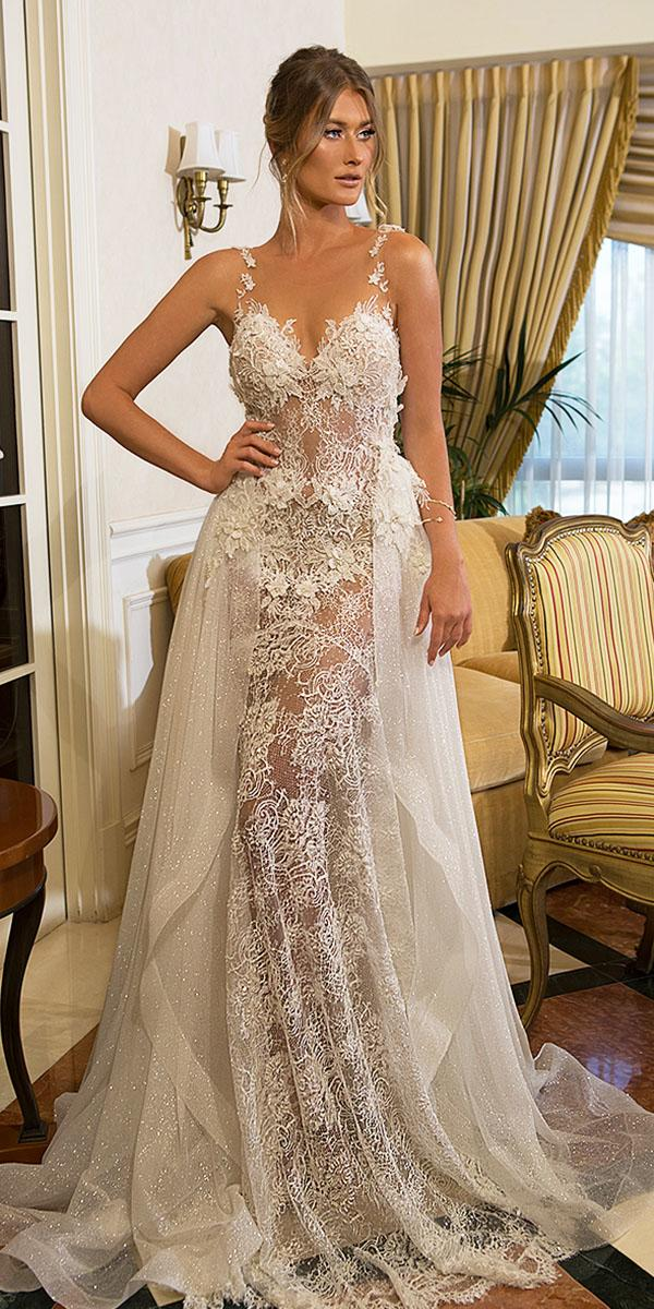 naama and anat wedding dresses-sweetheart overskirt full lace sleeveless