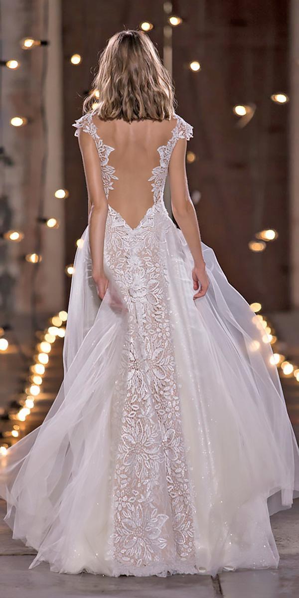 nurit hen wedding dresses a line lace low back