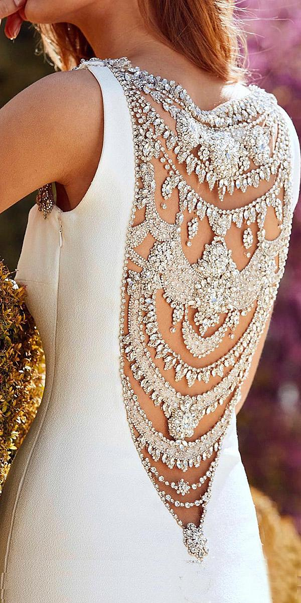 pronovias wedding dresses beaded sparkly detail back 2018