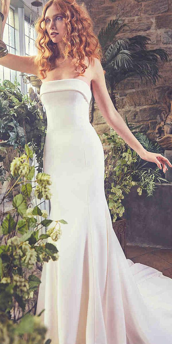 sareh nouri wedding dresses 2018 sheath straight across simple romantic