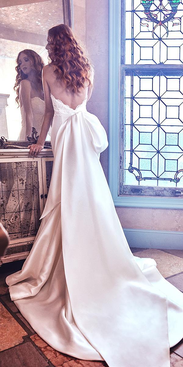 sareh nouri wedding dresses a line 2018 low back with train simple