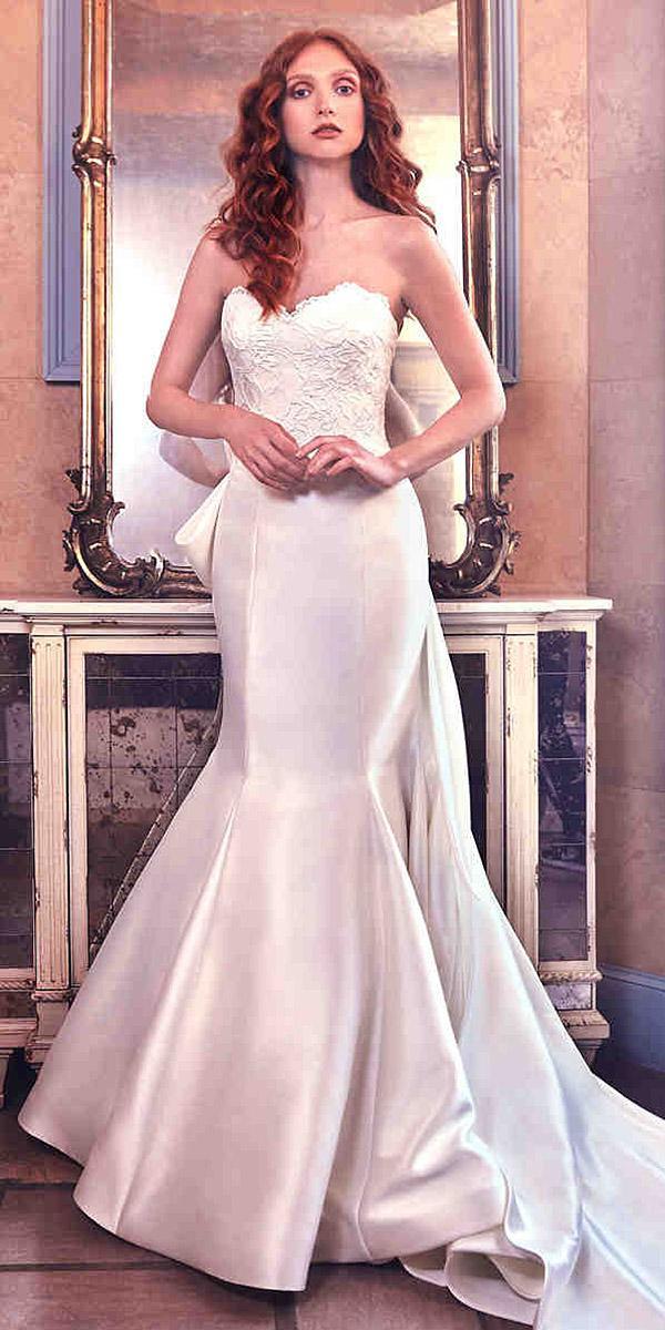 sareh nouri wedding dresses mermaid sweetheart lace top with train 2018