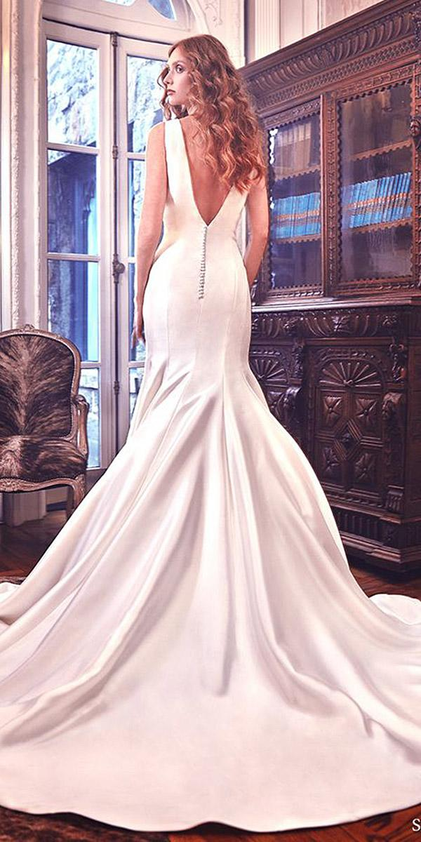 sareh nouri wedding dresses mermaid v back simple 2018