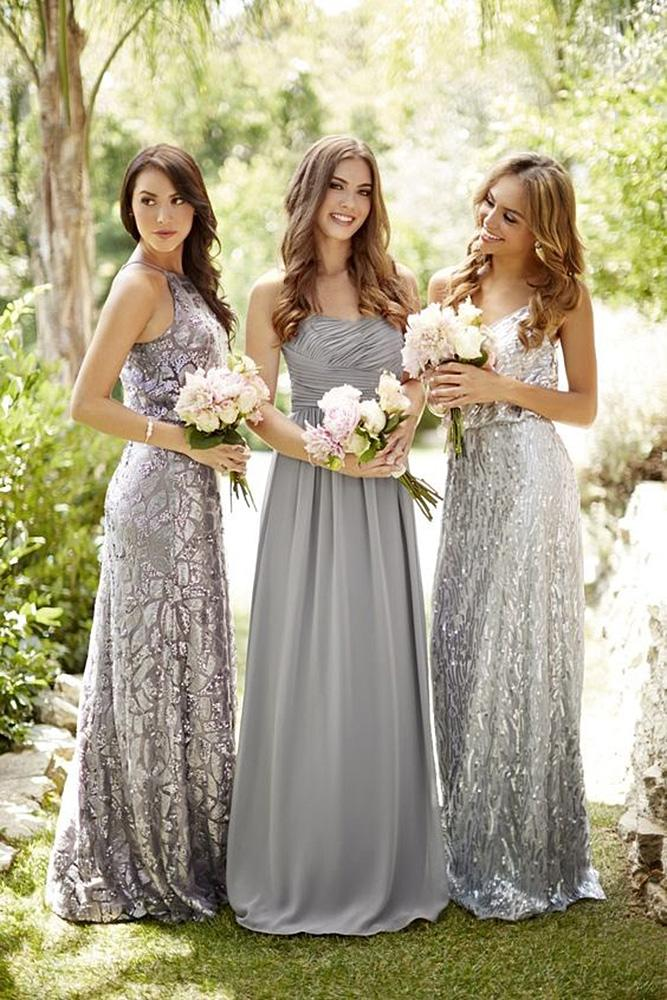 sequin bridesmaid dresses sheath silver embellishment archetype studio