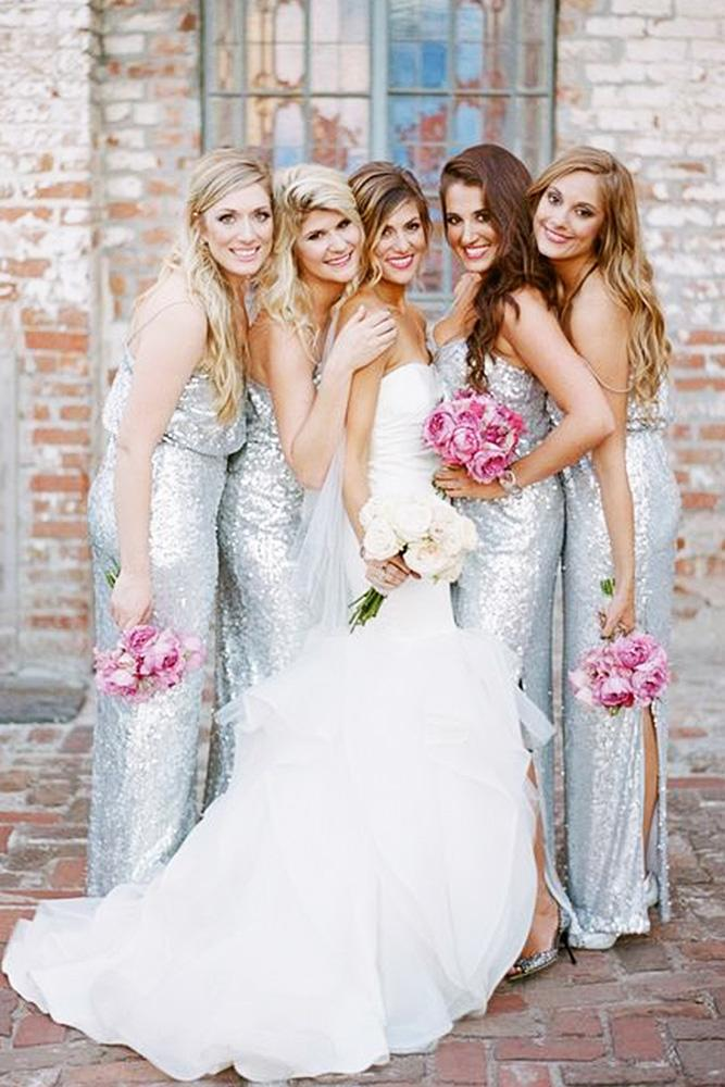sequin bridesmaid dresses sheath silver sleeveless megan w photography