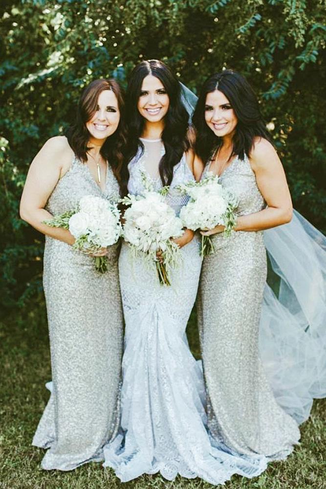 sequin bridesmaid dresses sheath v neckline silver ralph lauren