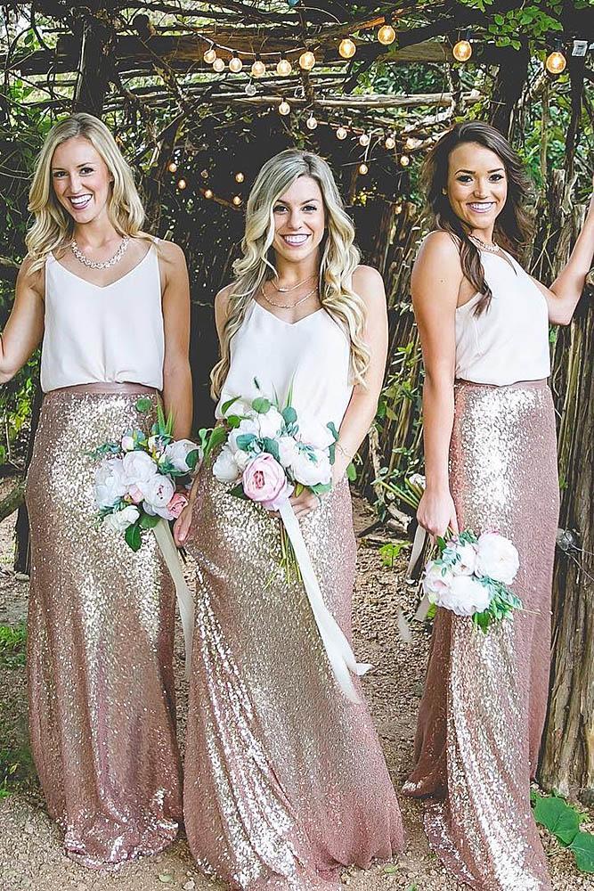 sequin bridesmaid dresses sleeveless sparkle skirt revelry