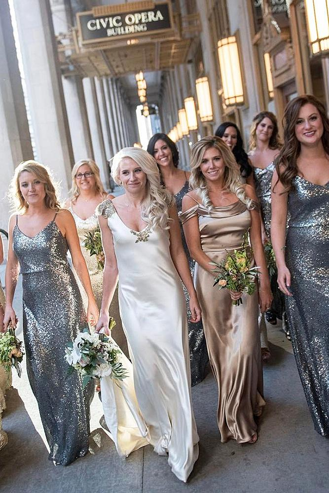 sequin bridesmaid dresses spaghetti straps glam jenny yoonyc