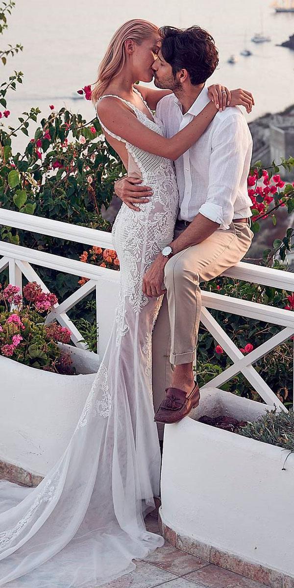 sheath open back spaghetti strap vintage wedding dresses pallas couture