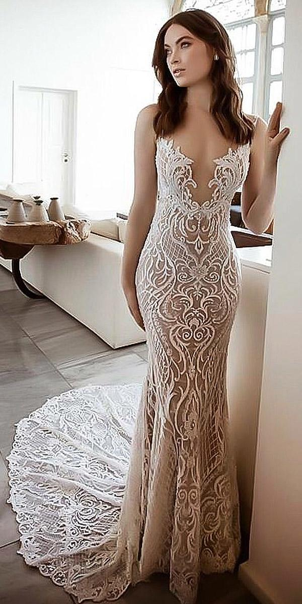 sovannary en couture wedding dresses deep v neckline with train