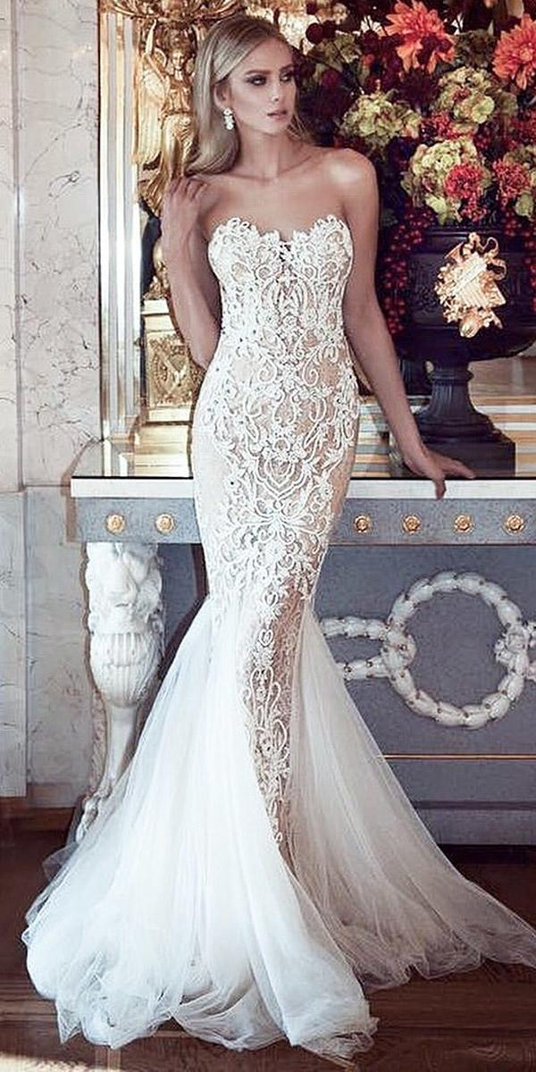 sovannary en couture mermaid wedding dresses sweetheart lace