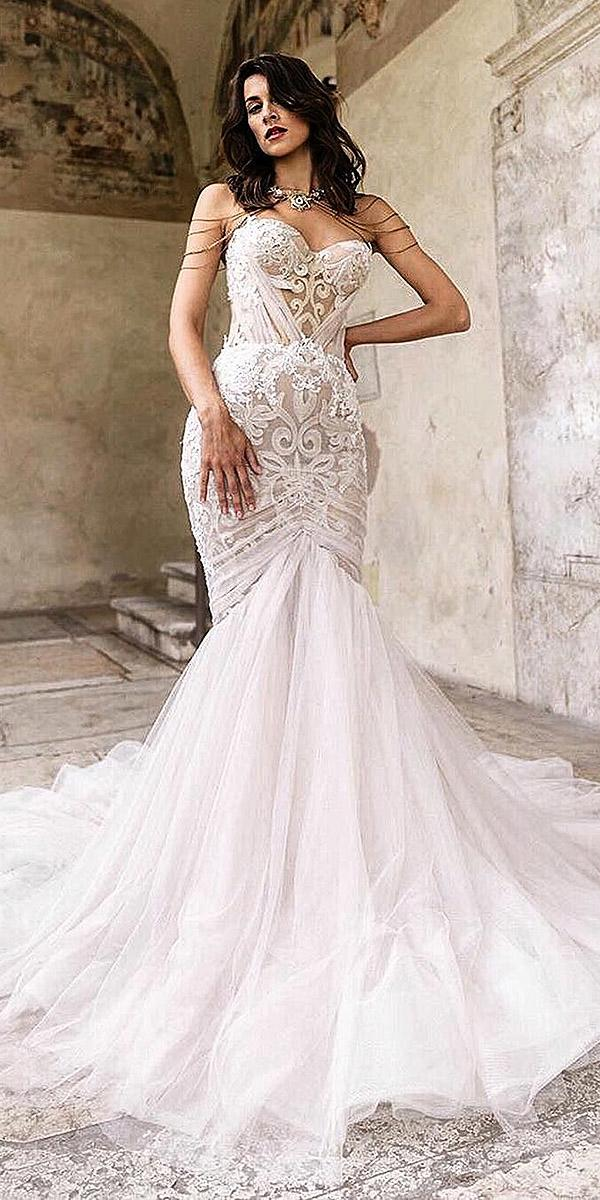 sovannary en couture wedding dresses mermaid sweetheart skirt embellishment