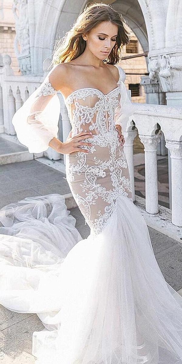 long sleeve off the sweetheart blush wedding dresses skirt mermaid sovannary en couture