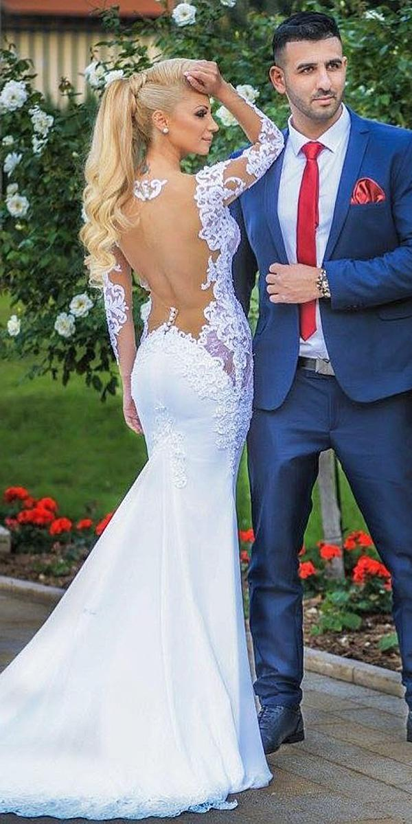 open back lace wedding dresses with train by sovannary en couture