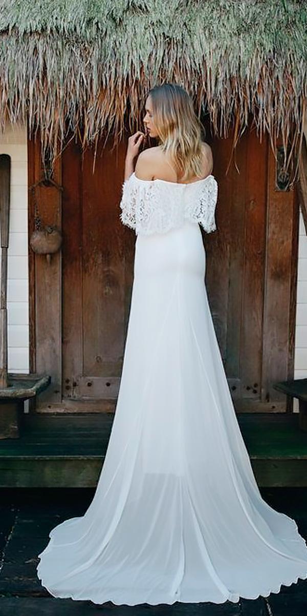 straight lace off the shoulder beach wedding dresses emmy mae bridal