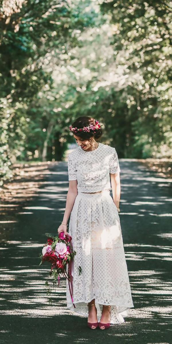 tea length lace separates with sleeves vintage wedding dresses lover the label