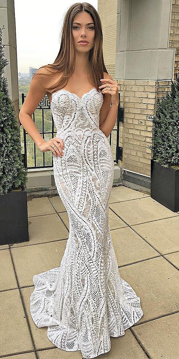 wedding dresses sweetheart empellishment lace sexy berta