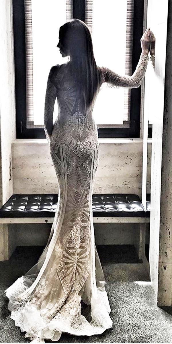 wedding dresses 2018 mermaid with long sleeves vintage yolan cris