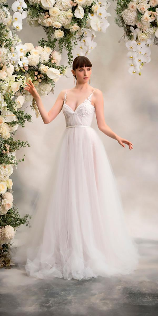 anna georgina wedding dresses a line tulle spaghetti straps sweetheart neck style simone