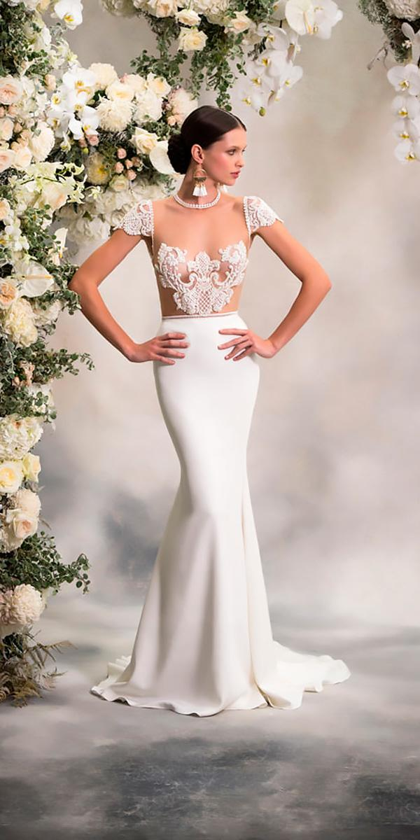 anna georgina wedding dresses fit an flare illusion lace neckline with cap sleeves style paige