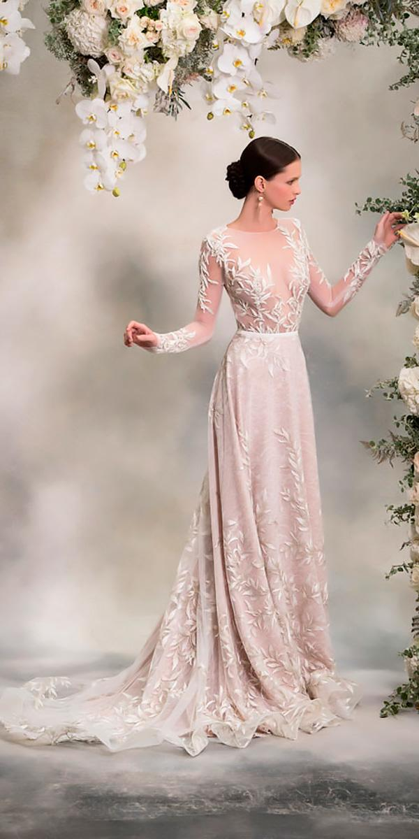 anna georgina wedding dresses lace straight illusion neck with long sleeves style louise
