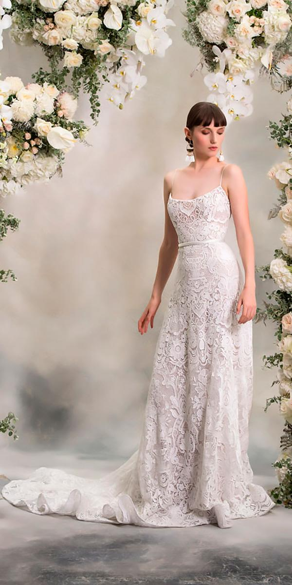 lace straight spaghetti straps wedding dresses 2018 anna georgina style madison