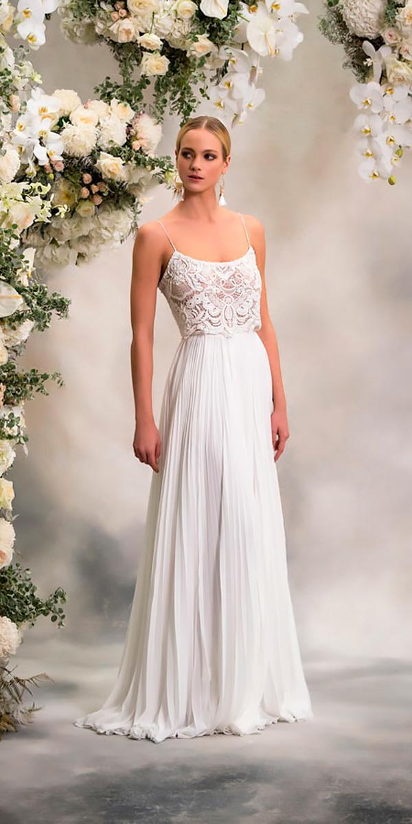 anna georgina wedding dresses straight lace sleeveless spaghetti straps style eva
