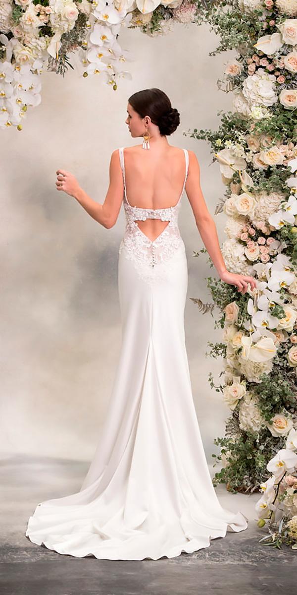 anna georgina wedding dresses straight-sleeveless backless open back style angelina
